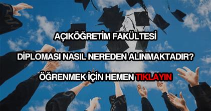 AÖF diploması nasıl nereden alınır?